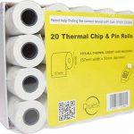 Quest Lot de 20 rouleaux de Papier thermique de puce : 57 mm x 30 mm-Compatible avec toutes les Machines à carte bancaire thermique de la marque Quest image 3 produit