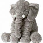 Rainbow Fox Coussin d'oreiller d'éléphant d'animal mignon d'éléphant 100% coton peluche en peluche nouveauté pour la décoration, cadeaux pour les enfants, dormir de peluche de bébé, ami de bébé de la marque Rainbow-Fox image 1 produit