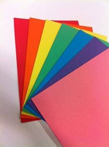 Rainbow Intensive Papier cartonné A4grammage 160g/m² aux couleurs vives de l'arc-en-ciel (lot de 70feuilles) de la marque Rainbow image 0 produit