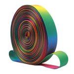 Rainbow ruban double face Thermaltransfer Impression coloré Longueur de la bande 45,7m (45.72metre) de largeur 9mm 13mm 16mm 25mm pour travaux manuels DIY papier cadeau mariage fête de Noël, Green/Orange/Red/Yellow, 25MM/50yards de la marque kaersis image 2 produit