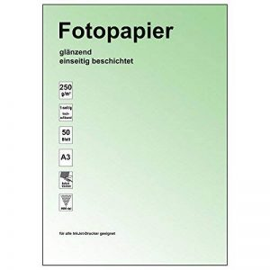 Ramette de 50 feuilles de papier photo brillant - 9600dpi, 250 g/m²-format-a3–mise au point précise-indice de blancheur élevé-bonne qualité de la marque Unbekannt image 0 produit