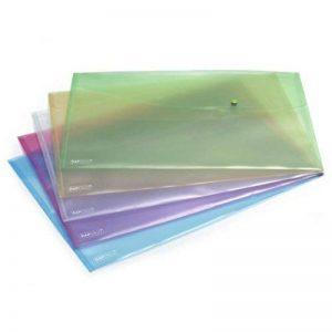 Rapesco Pochette Porte Document Pastel avec Bouton Pression en Polypropylène A3 (Lot de 5) Couleurs Assorties de la marque Rapesco image 0 produit