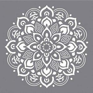 Rayher Hobby 38969000 Pochoir Mandala, pochoir de 30,5 x 30,5 cm idéal pour créer de jolis motifs décoratifs sur divers supports, sct.-LS 1pièce, gris de la marque Rayher Hobby image 0 produit