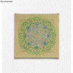 Rayher Hobby 38969000 Pochoir Mandala, pochoir de 30,5 x 30,5 cm idéal pour créer de jolis motifs décoratifs sur divers supports, sct.-LS 1pièce, gris de la marque Rayher Hobby image 1 produit