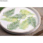Rayher Hobby 45083000 Pochoir Feuille de palmier, DIN A5, 1 pochoir adhésif et 1 spatule, idéal pour imprimer de jolis motifs décoratifs sur divers supports, bleu de la marque Rayher Hobby image 2 produit