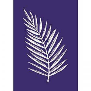 Rayher Hobby 45083000 Pochoir Feuille de palmier, DIN A5, 1 pochoir adhésif et 1 spatule, idéal pour imprimer de jolis motifs décoratifs sur divers supports, bleu de la marque Rayher Hobby image 0 produit