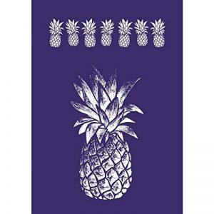 Rayher Hobby 45089000 Pochoir Ananas, DIN A5, 1 pochoir adhésif et 1 spatule, idéal pour imprimer de jolis motifs décoratifs sur divers supports, bleu de la marque Rayher Hobby image 0 produit