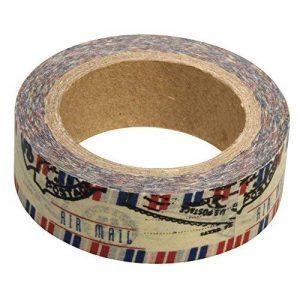 Rayher Hobby 57331000 washi tape courrier aérien – ruban adhésif décoratif 15 mm – scotch washi tape parfait pour scrapbooking, bricolage, artisanat, etc. – rouleau de 15 m – multicolore de la marque Rayher Hobby image 0 produit