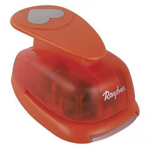 Rayher Hobby 69097000Perforatrice Motif: Cœur 5cm de diamètre plastique/métal orange 1.8x 1.1X 0 72cm de la marque Rayher Hobby image 0 produit