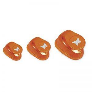 Rayher Hobby perforatrice papillon en un lot de 3 – perforatrice au design de papillon pour vos réalisations de faire part, carterie etc.– perforatrice scrapbooking de 17,5 x 17 x 5,9 cm – orange de la marque Rayher-Hobby image 0 produit