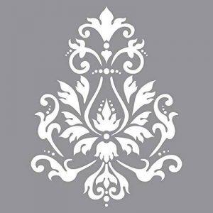 Rayher Hobby Pochoir sous Blister 30,5 x 30,5 cm – Pochoir Peinture Motif Brocart en Polyester – Pochoir Décoratif Réutilisable pour Scrapbooking, Décoration Murale, Album Photo, etc. – Gris de la marque Rayher Hobby image 0 produit