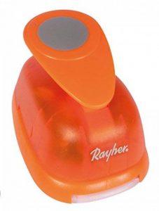 Rayher perforatrice fantaisie – perforatrice rond – perforatrice scrapbooking idéal pour les activités des loisirs créatifs – orange de la marque Rayher Hobby image 0 produit