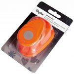 Rayher perforatrice fantaisie – perforatrice rond – perforatrice scrapbooking idéal pour les activités des loisirs créatifs – orange de la marque Rayher-Hobby image 4 produit