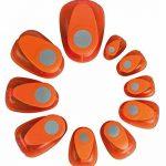 Rayher perforatrice fantaisie – perforatrice ronde de ø 3.81cm (1,5) – perforatrice scrapbooking idéale pour les loisirs créatifs – orange de la marque Rayher Hobby image 5 produit