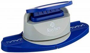 Rayher perforatrice scrapbooking – perforatrice fantaisie pour la décoration de vos réalisations de faire-part, des cartes – perforatrice deco – bleu/blanc de la marque Rayher Hobby image 0 produit