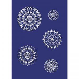 Rayher pochoir Mystyle au motif rosettes de fleurs – pochoir deco composé de 6 pièces – pochoir fleur pour décorer et costumiser des supports tels que le tissu, le bois & Cie de la marque Rayher Hobby image 0 produit