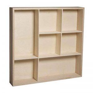 Rayher étagère à casier – meuble de rangement à 7 caiers pour ranger des bijoux, des parfums & Cie – etagere en bois à décorer selon vos idées créatives de la marque Rayher Hobby image 0 produit
