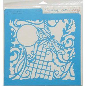 Rebecca Baer Pochoir en Plastique 11.75-inch x 11.75-inch, Fantaisie Libellule de la marque Rebecca Baer image 0 produit