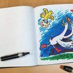 rendr Marqueurs–Sketch Book avec couverture rigide 96pages/48feuilles de papier–180g–21,5x 28cm de la marque Crescent image 1 produit