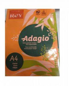 Rey Adagio Ramette de 250 feuilles papier couleur pour imprimante laser/jet d'encre/copieur 160g Format A4 Orange intense de la marque REY image 0 produit