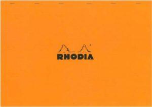 Rhodia - N°38- Bloc Agrafé 80 Feuilles Détachables - Petits carreaux 5x5 - Format A3+ (42 x 31,8 cm) - Orange de la marque Rhodia image 0 produit