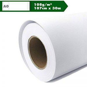 Rouleau de papier traceur Traceur Mat Inkjet 108g/m² Papier A0gestrichenes universel étanche 107cm x 30m, convient pour les Dye et de pigments couleurs de la marque Kultloggen image 0 produit