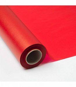 Rouleau Emballage Papier de Soie 17g 70cm x 100m uni rouge de la marque POLY SUCCESS image 0 produit