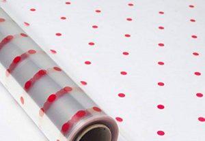 Rouleau Emballage Polypropylène transparent 70cm x 50m transparent impression motif gros pois rouges de la marque POLY SUCCESS image 0 produit