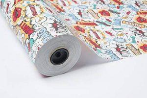ROULEAU PAPIER CADEAU 70 CM X 100 M DESIGN COMIQUE de la marque PAKOT S.A image 0 produit