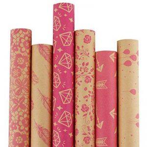 rouleau papier cadeau rose TOP 13 image 0 produit