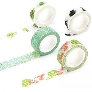 Rouleaux de ruban de masquage washi pour loisirs créatifs 15x7mm Motif floral/feuille de la marque LAZYGou image 0 produit