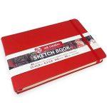 Royal Talens–Art Création de carnets de croquis–80feuilles–140g/m²–21x 14.8cm–Rouge Coque de la marque Royal Talens image 3 produit