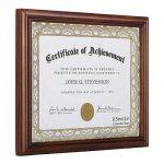 RPJC Cadre de Document/Certificat Cadres fait de Bois Massif en Verre Haute Définition et Certificats d'affichage 21.6x28 cm Cadre de Papier Standard Marron de la marque RPJC image 1 produit