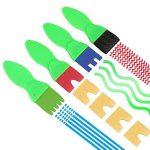 RUNFON 18 Pcs Brosses de Peinture Enfant Pinceaux Ensemble Enfants Éponge Dessin Art DIY Outils avec Palette et Tablier Rouleaux de Peinture de la marque RUNFON image 6 produit