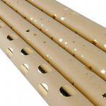 RUSPEPA Classique Style Feuille D'Or Brun Kraft Papier D'Emballage Pour Cadeau-4 Rouleau-76Cm X 305Cm Par Rouleau de la marque RUSPEPA image 1 produit