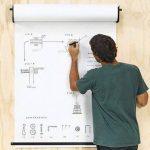 RUSPEPA Rouleau De Papier Kraft Blanc, 122 Cm X 30 M de la marque RUSPEPA image 2 produit