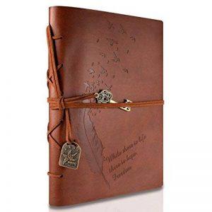 Rymall Carnet De Voyage A5, Journal Intime, Foonii New Cuir Vintage Magique Key String Notebook Journal Blank Agenda Jotter Cahier Corde Vintage Intimate Diary (Café) de la marque Rymall image 0 produit