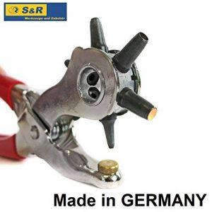 S&R Pince Perforatrice de Précision / FABRICATION ALLEMANDE / Pince Rotative pour Cuir, Ceinture, Papier, Bracelets, Montre, Etoffe. Poinçons: 2 – 2,5 – 3 – 3,5 – 4 – 4,5 mm de la marque S&R image 0 produit
