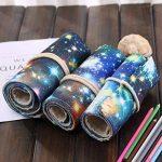 Sac à Crayon de Toile avec 72 Trous, Asnlove Rouleau pour Crayons de Couleur Trousse à Crayons Kit de Croquis Dessin de Sac Multi-usages Pochette de Rangement (crayons non inclus), Galaxie de la marque Asnlove image 2 produit