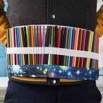 Sac à Crayon de Toile avec 72 Trous, Asnlove Rouleau pour Crayons de Couleur Trousse à Crayons Kit de Croquis Dessin de Sac Multi-usages Pochette de Rangement (crayons non inclus), Galaxie de la marque Asnlove image 3 produit