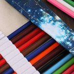 Sac à Crayon de Toile avec 72 Trous, Asnlove Rouleau pour Crayons de Couleur Trousse à Crayons Kit de Croquis Dessin de Sac Multi-usages Pochette de Rangement (crayons non inclus), Galaxie de la marque Asnlove image 4 produit