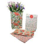Sachets Kraft Sac Cadeau Papier d'emballage cookie avec autocollant en motif fleurs de style coréen pour mariage anniversaire de la marque Yosoo image 5 produit