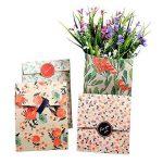 Sachets Kraft Sac Cadeau Papier d'emballage cookie avec autocollant en motif fleurs de style coréen pour mariage anniversaire de la marque Yosoo image 6 produit
