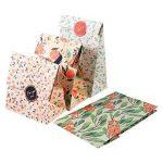 Sachets Kraft Sac Cadeau Papier d'emballage cookie avec autocollant en motif fleurs de style coréen pour mariage anniversaire de la marque Yosoo image 1 produit