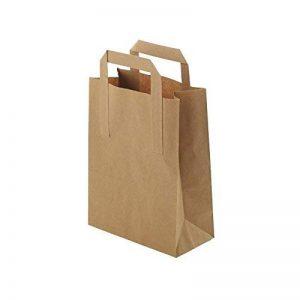 Sacs en papier grand format écologiques Kaufdichgrün I Sacs en papier pour cadeaux biodégradables et compostables I 250 x sacs en papier marron 22 x 10 x 28 cm de la marque kaufdichgruen image 0 produit