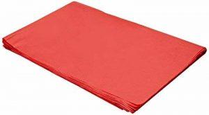 Sadipal 50x 70–Sac de 25feuilles de Papier de soie, 50x 70, couleur rouge de la marque Sadipal image 0 produit