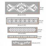 SATARA Indien Incruster Ensemble de 5 Meubles Mur Sol Pochoir Pour Peinture de la marque Dizzy Duck Designs image 1 produit