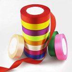 satiné coloré ruban 22,9m X 2rouleaux pour cadeaux de mariage Craft Wrap 20mm de la marque Anjing image 3 produit