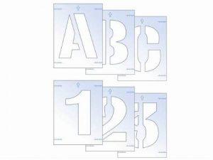 Scan Kit de pochoirs Lettres et Numéro 50 mm de la marque Scan image 0 produit
