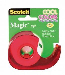 Scotch® Magic (TM) Distributeur de ruban adhésif 19mm x 19m Couleurs tendance de la marque Scotch image 0 produit